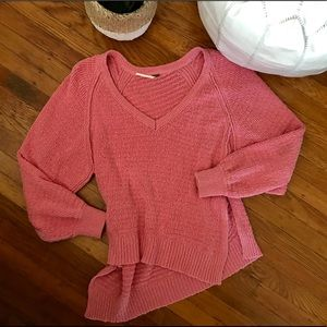 Pink Free People Sweater